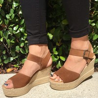 A Step Up Wedge - Brown