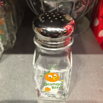 disney parks glass salt pepper shaker florida orange bird new