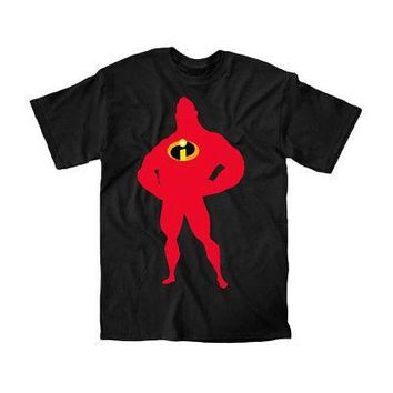Disney Pixar The Incredibles Movie Shirt Mr Incredible Shadow Men's T-Shirt - S