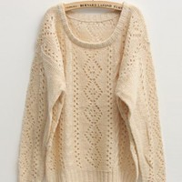 Hollow-out Long Sleeve Sweater$45.00