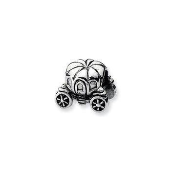 Sterling Silver Pumpkin Carriage Bead Charm
