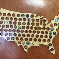 Beer Cap Map - USA