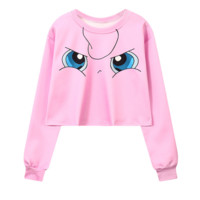Pokemon Jigglypuff Grumpy Sweatshirt Top