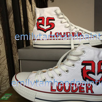 R5 Shoes, R5 Custom Shoes not Converse for R5 Fans, Best Birthday Gift, Special R5 Shoes