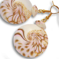 Pink earrings for girls. You can add in them your favorite perfume. Light pink earrings for girl.