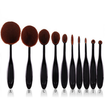 10 pcs/set Toothbrush Shaped Foundation Powder Brushes Kit Face Cosmetic Make Up Brush Sets Hot
