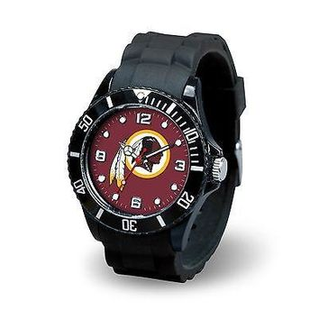 Washington Redskins NFL Football Team Men's Black Sparo Spirit Watch