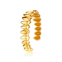 Pangolin Scale Cuff in 18 ct Yellow Gold - Patrick Mavros