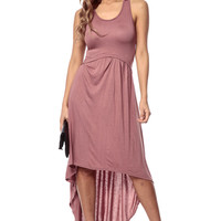 Lovely Ballad High Low Mauve Maxi Dress