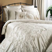 Medallion Champagne Comforter Set | Atlantic Linens
