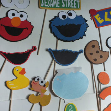 SESAME STREET THEMED photo booth props  kids parties