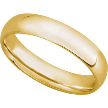 10K Yellow Gold 5mm Comfort Fit Mens Plain Wedding Band (Available Ring Sizes 7-12 1/2)