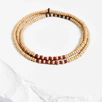 Natural Bead Necklace- Brown One