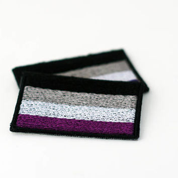 Asexual Pride Flag Patch, Iron on Patch, Sew on Patch, Pride Flag Pin, Iron on Pride Patch, Asexual iron on Pride Patch
