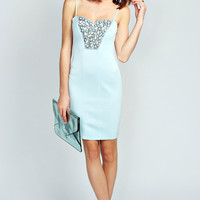Lucie Embellished Sweetheart Bodycon Dress