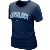 Nike North Carolina Tar Heels (UNC) Women's Arch Crew T-Shirt - Navy Blue