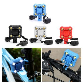 5 Modes Mountain Bike Waterproof Horn Headlight Bicycle USB Charged Bell Lamp Safe Riding Equipment Cycling Accessories