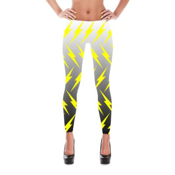 Lightning Leggings - Bolt Leggings - Lightning Bolt Legging - Electric Leggings - Lightning Costume