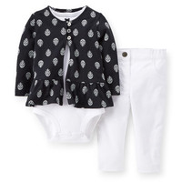 3-Piece Cotton Cardigan Set