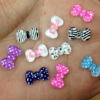 PEPPERLONELY Brand 100pc Assorted Mini Size Bows, Bee, Panda, Cake, Chocolate, Monsters, Sundae Nail Tip Decals