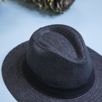 Panama Straw Hat, Black