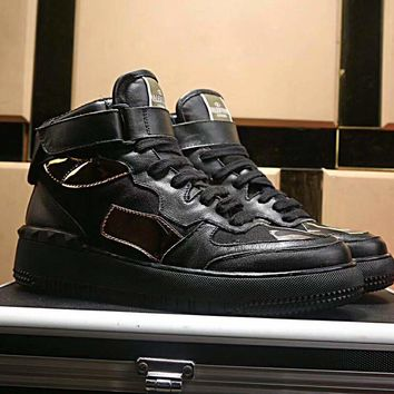 Valentino Garavani Men's Leather Fashion High Top Sneakers