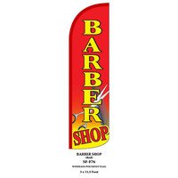 Barber Shop Red Windless Swooper Feather Flag