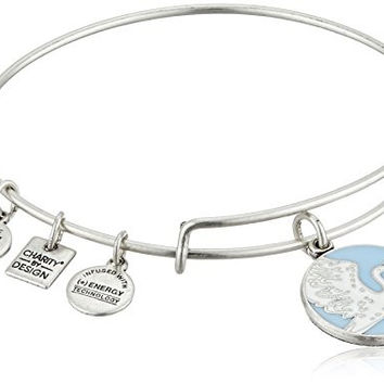 Alex and Ani Charity By Design Special Delivery Blue Rafaelian Silver Bangle Bracelet