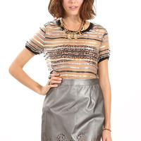 Sugarlips Metallic Skirt