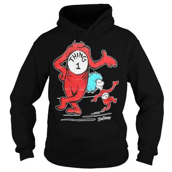 Dr Seuss - No Head Thing 1 and 2 shirt Hoodie