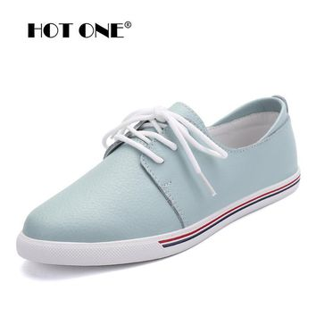 Women Flats oxfords Shoes Brand Women Casual Lace Up Leather Women Shoes 2017 Fashion