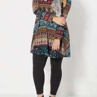 Plus Aztec Tent Sweater Dress | Plus Mini Dresses | rue21
