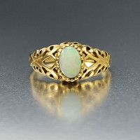 Superb Antique Gold and Opal Engagement Ring C 1910s
