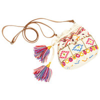 Mirror Cinch Pouch Bag - Natural