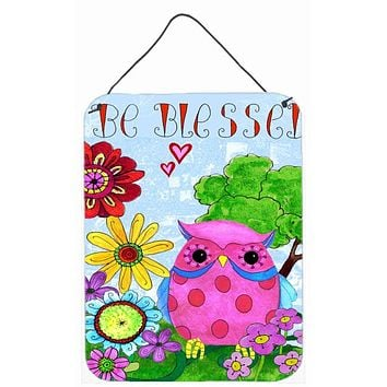 Be Blessed Owl Wall or Door Hanging Prints PJC1026DS1216