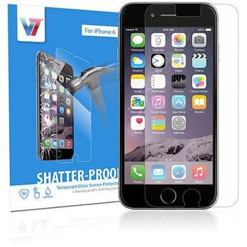 V7 Apple iPhone 6 Shatterproof Tempered Glass Screen Protector - Walmart.com