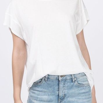 Shane Cotton Modal Tee in Off White