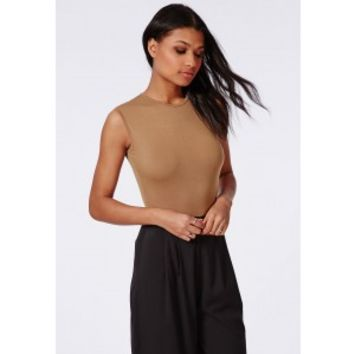 6d2e155640 Missguided - Sleeveless Bodysuit Camel from Missguided