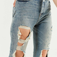 BDG High-Rise Straight + Narrow Jean – Cinder | Urban Outfitters
