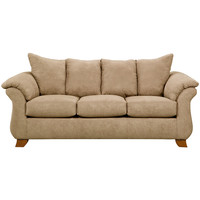 Exceptional Designs Sensations Camel Microfiber Sofa