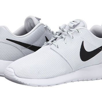 Nike Roshe Run Pure Platinum White Black - Zappos.com Free Shipping BOTH 8937e8be2154