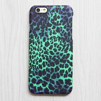 Turquoise Purple Leopard Pattern iPhone XR 6 plus Case Ethnic iPhone 8 SE iPhone 4 Case Animal Galaxy S8 S6  Case 076