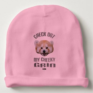 Cheeky Grin Baby Design by Kat Worth Baby Beanie