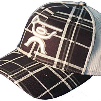 HUKi Lacrosse Men's Plaid Hat,Navy, Adjustable Snapback