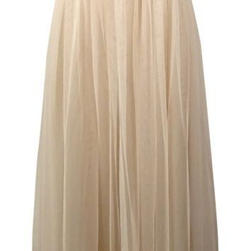 Xscape Women's Beaded Strapless Tulle Gown