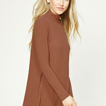 40ae0ac32b1c Ribbed Turtleneck Swing Dress from Forever 21