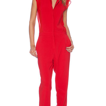 BCBGMAXAZRIA Arial Jumpsuit in Red