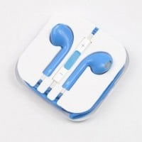 Lovingpanda New Earbuds EarPods with Remote And mic Earphone Headphone for Apple iPhone 5 5G 5th-Blue:Amazon:Cell Phones & Accessories