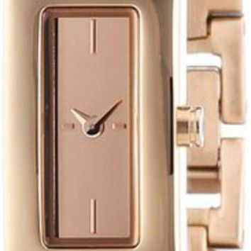 DKNY Beekman Rose Gold Dial Crystals Steel Bangle Women's Watch NY2229