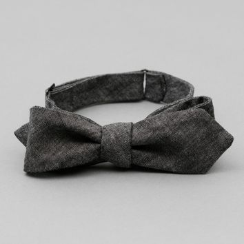 Black Chambray Bow Tie